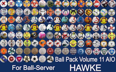 PES 2019 Ball-Server Pack vol 11 AIO by Hawke [ 113 Balls ]