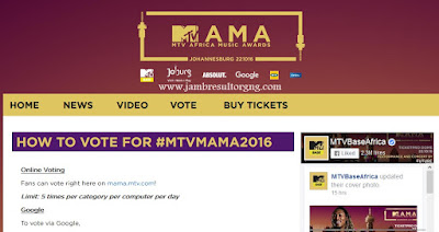 "HOW TO VOTE FOR MTVMAMA2016 | Search ""MTV MAMA"" on Google"