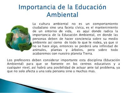 Importancia e la Educación Ambiental