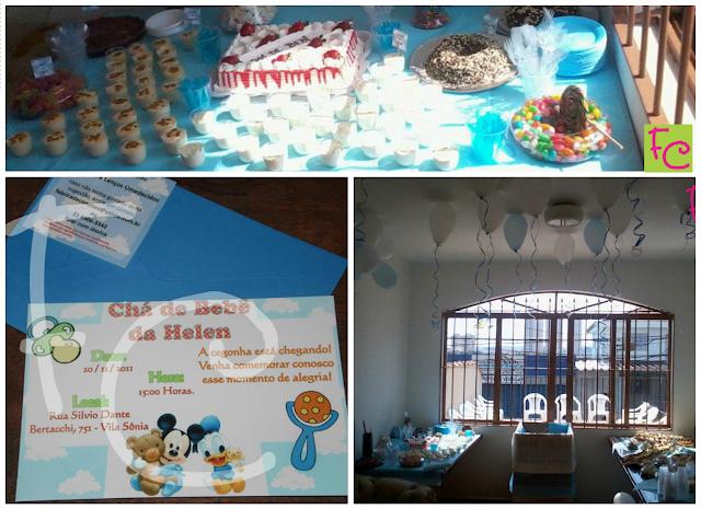 Tema Baby Disney / Azul e Branco