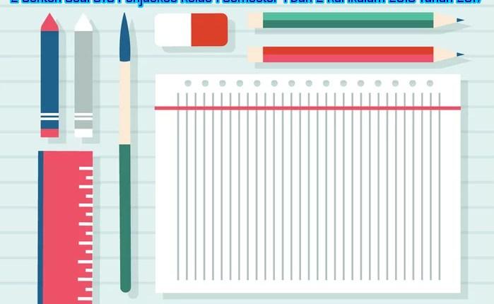 2 Contoh Soal UTS Penjaskes Kelas 1 Semester 1 Dan 2 Kurikulum 2013 Tahun 2017