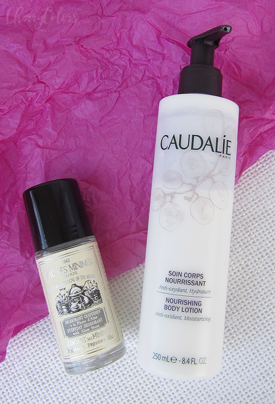 Caudilae Body milk and Le Couvent des Minimes everyday deodorant