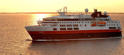 Hurtigruten's Boutique Exploration Cruise Ship Fram Sail to Arctic, Antarctica, Norway, Greenland, Iceland