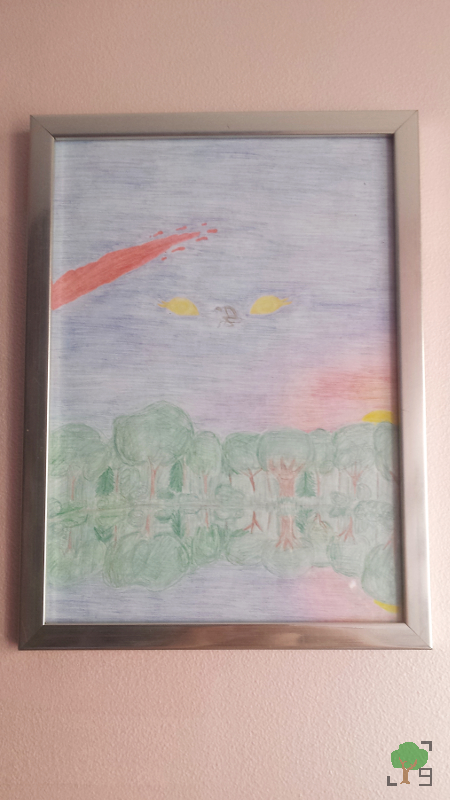 Kat, metal, muzyka, religia, wiara, rysunek, interpretacja piosenki, obraz w ramce