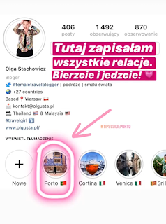 Olgusta - profil blogerki podróżniczej na Instagramie