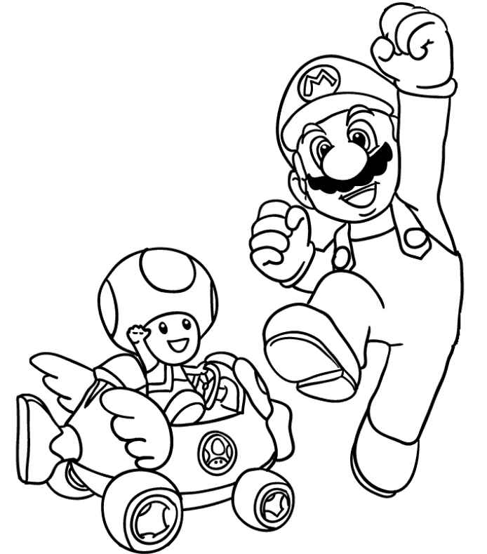 This is a picture of Terrible Mario Coloring Pages To Print