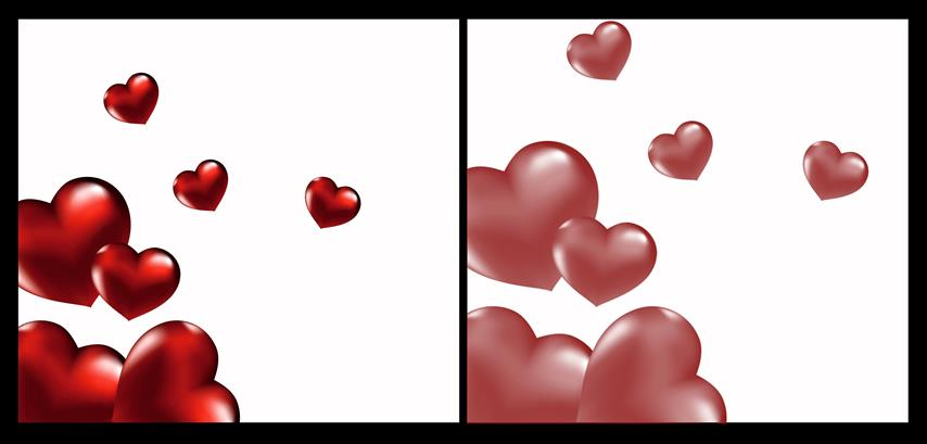Cluster hearts photoshop brushes plus cutouts