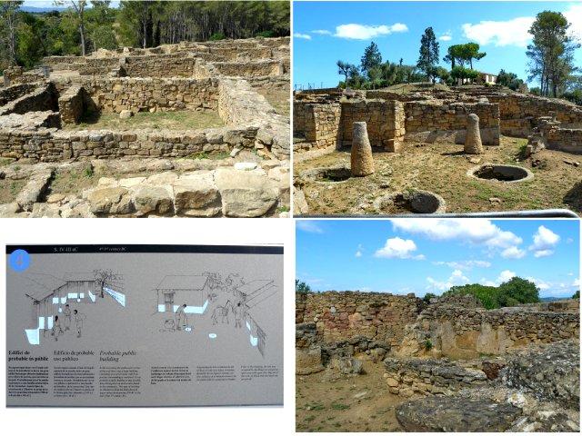 ruinas en poblado íbero de ullastret en la costa brava