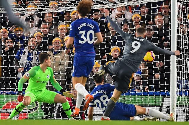 Jamie Vardy goal Vs Chelsea  , Davis Luis and Kepa