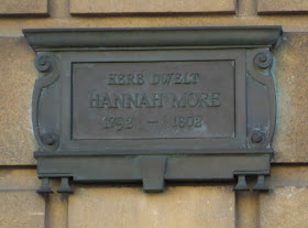 Plaque outside Hannah More's home in Bath