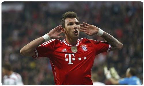 Mario Mandzukic trong màu áo Bayern