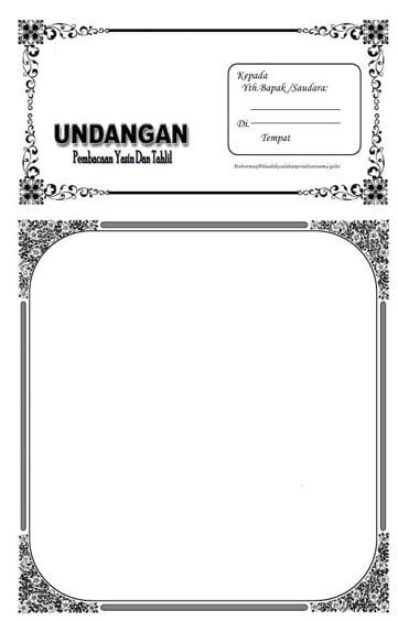 Frame undangan tahlilan dan yasinan