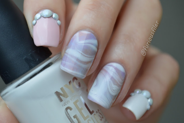 #31dc2015 sponged watermarble one colour delicate pearls