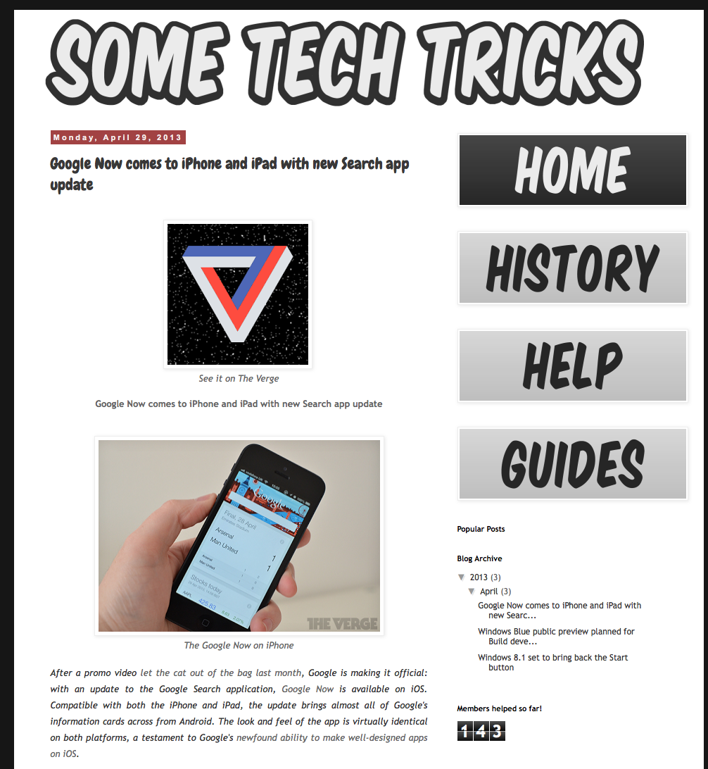 History Fitzsimmons Weekly Electronics Projects April 2013 News Blogging Started As A Small Project Of Mine In January I Envisioned It Initially To Be Website That Mixes With Guides And Online