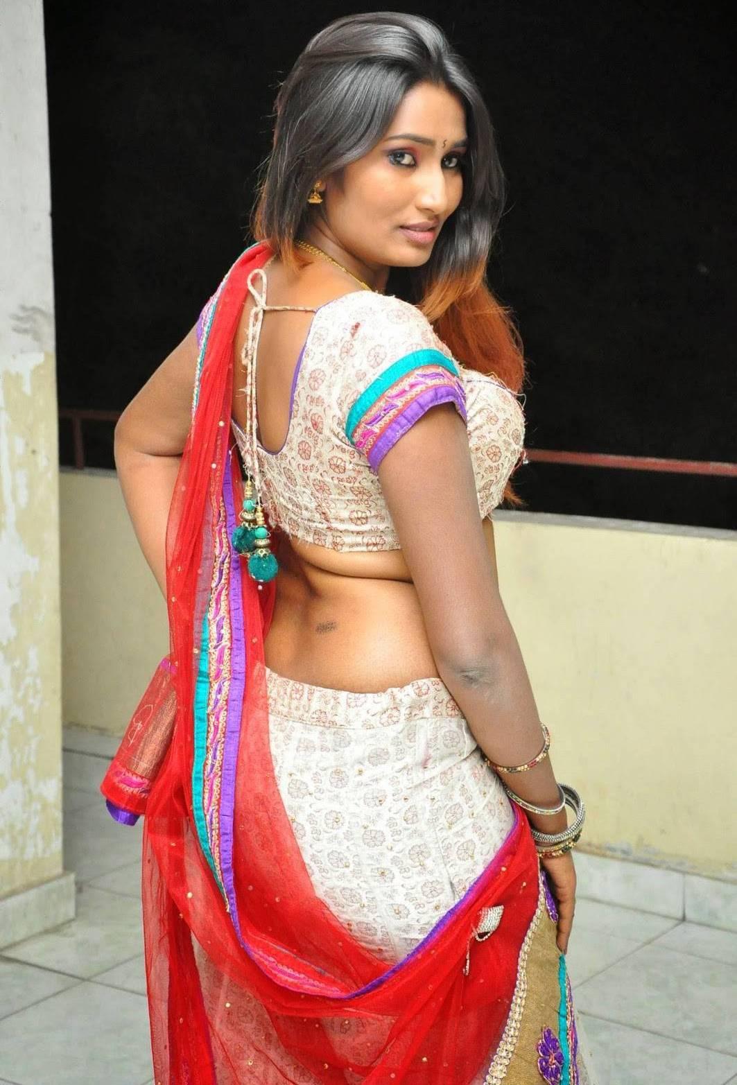 Swathi Naidu Latest Hot Spicy Saree Photos  Actress -5403