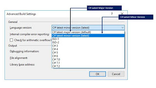 C# Latest Major and minor version