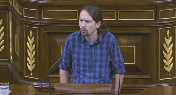 """Pablo Iglesias: """"Esta legislatura será el epílogo de un viejo país que muere. Nace una nueva España"""""""