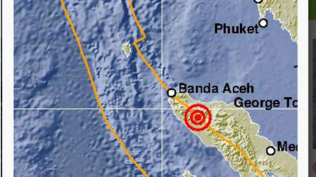 Gempa Bumi 5,3 Skala Richter Guncang Aceh