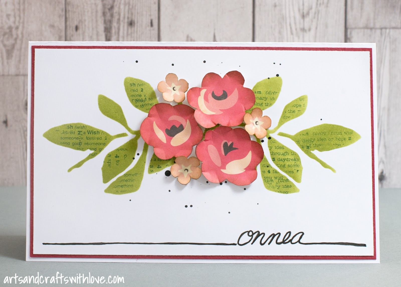 Cardmaking: Card with stencilled background