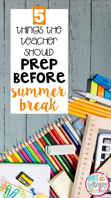 If you prep these materials at the end of the school year, back to school will be so much easier!