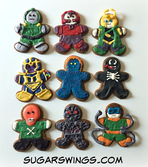 Marvel villain cookies