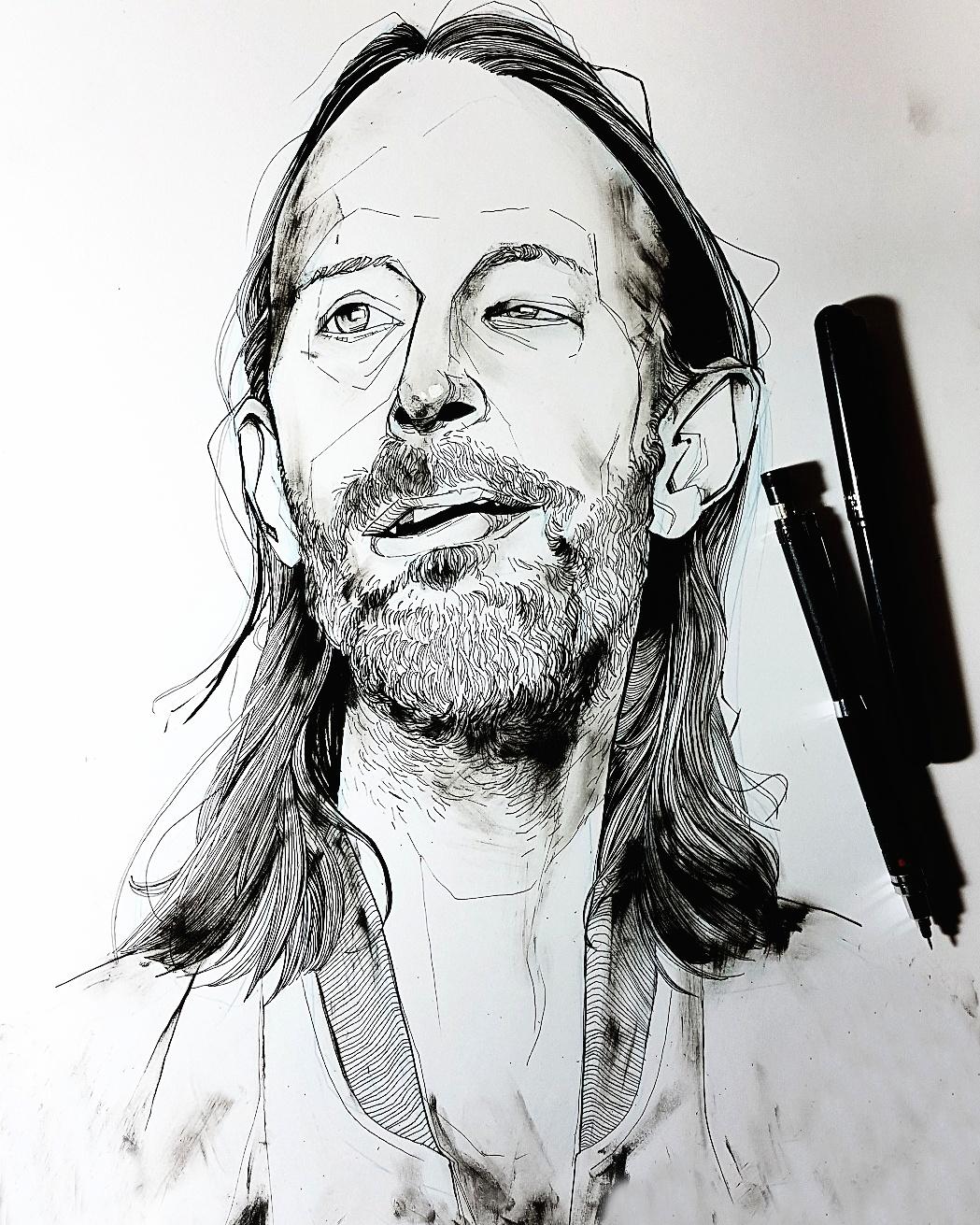 Drawing Thom Yorke Radiohead