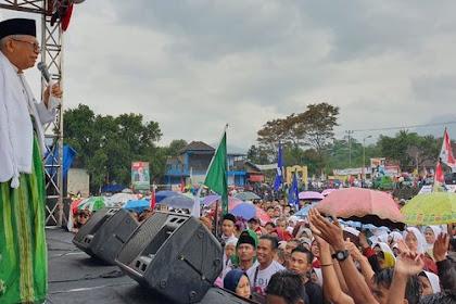 Kampanye di Garut, Ma'ruf Amin Mengaku Keturunan Prabu Siliwangi