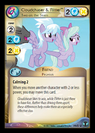 My Little Pony Cloudchaser & Flitter, Two on the Team Defenders of Equestria CCG Card