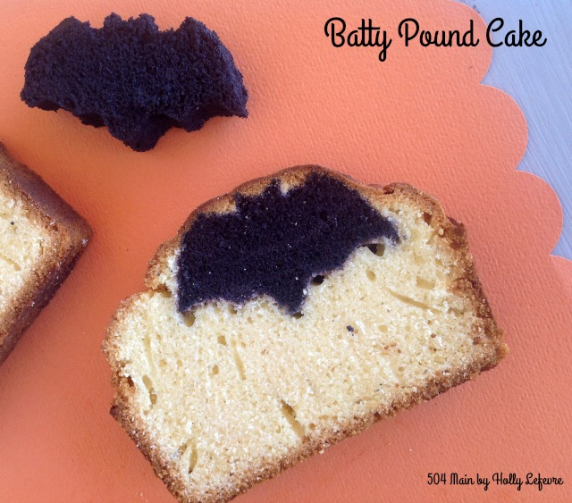 Imagine the surprise to find little (cake) bats inside your pound cake