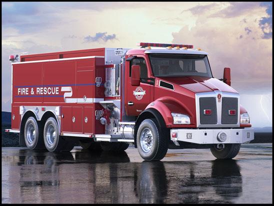 Kenworth T880 Fire Tanker Truck