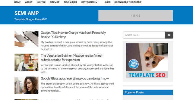 Semi AMP Blogger Templates