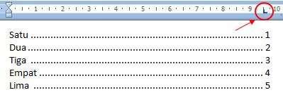 tab stop Excel