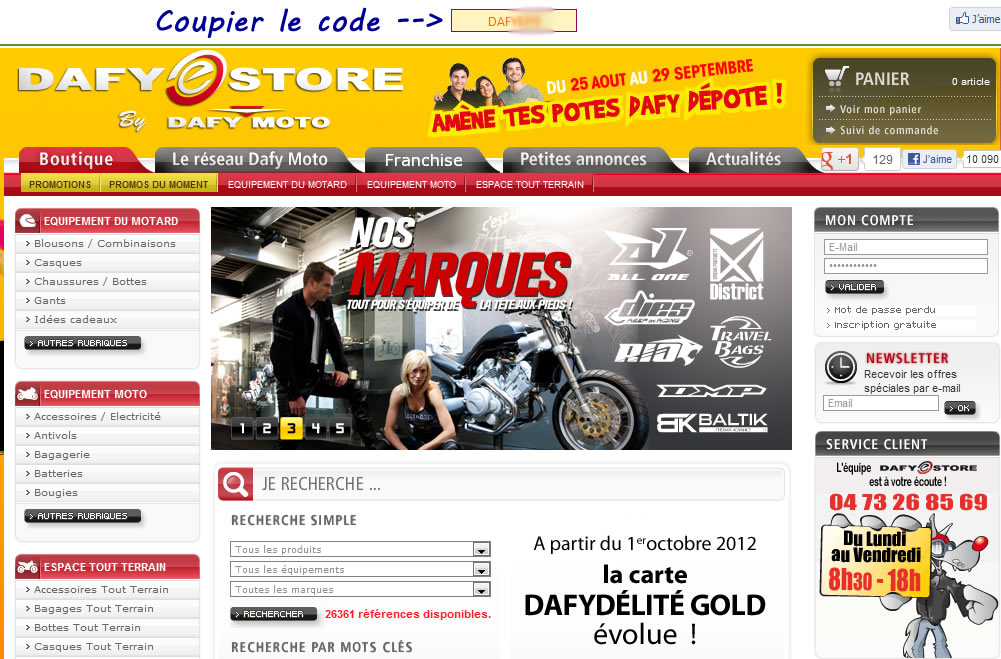 pause auto code promo dafy moto. Black Bedroom Furniture Sets. Home Design Ideas