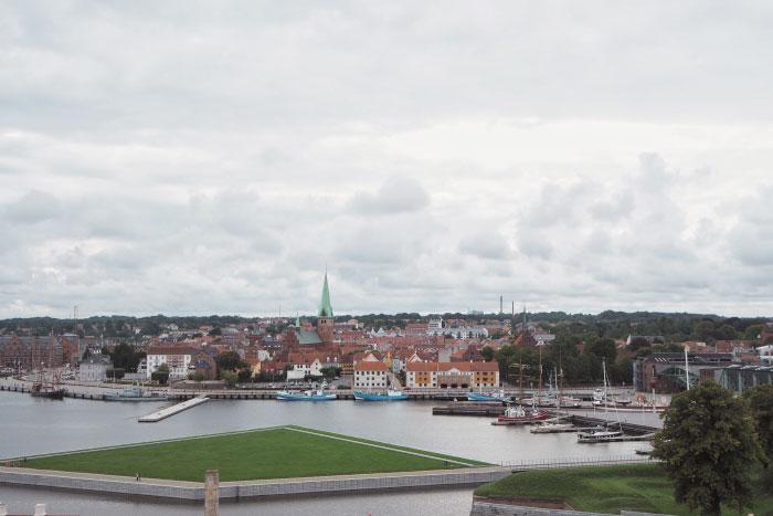 Port de la ville de Helsingør au Danemark