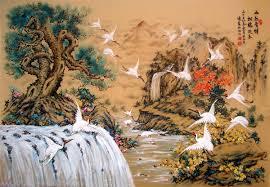 Tranh son dau so hoa tai Cua Dong