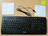 Lieferumfang: LOGITECH K280e corded Keyboard USB black for Business, QWERTZ, deutsches Layout