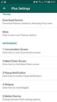kostumisasi tampilan whatsapp