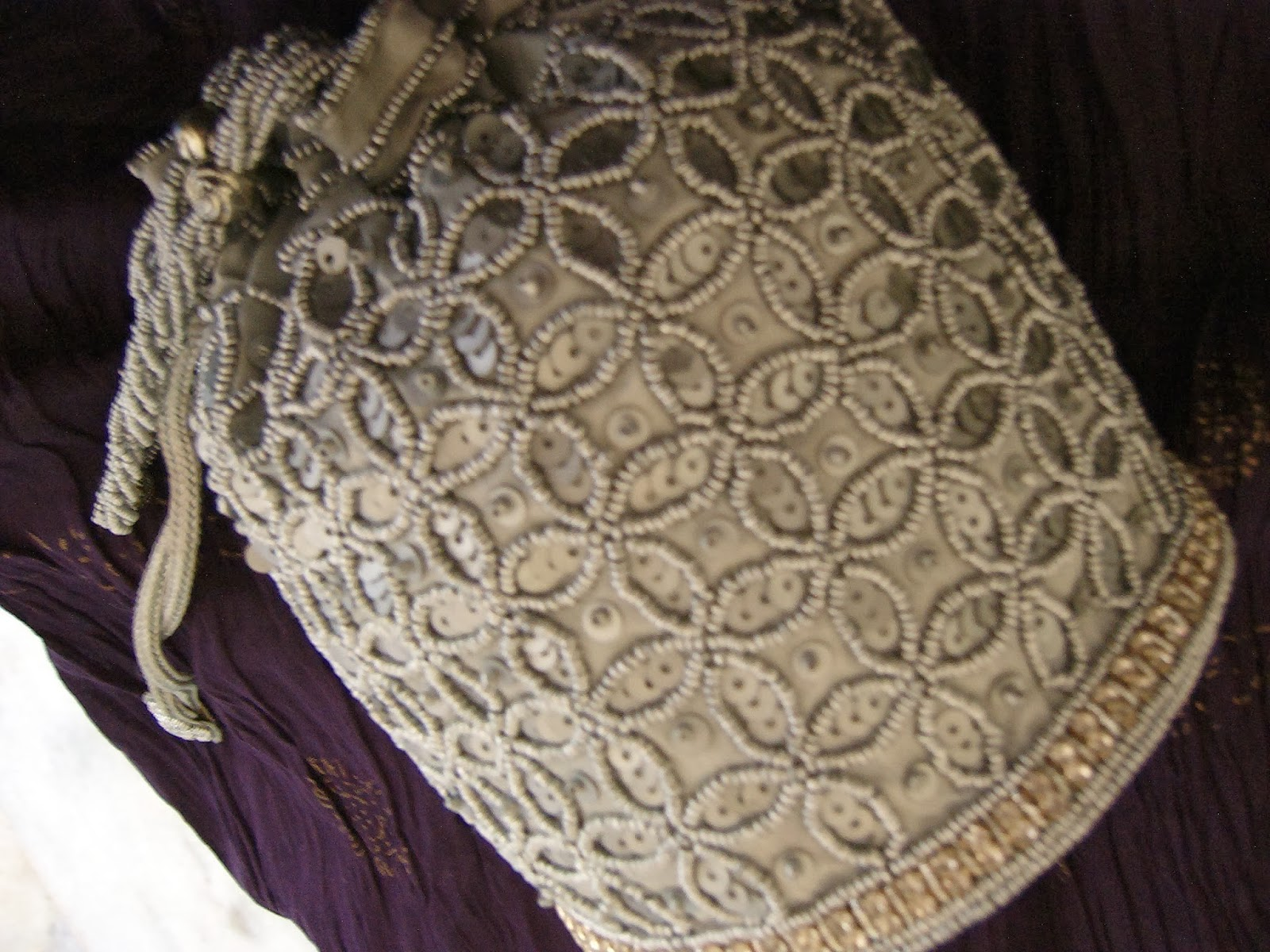 beaded bag, silve bag, indian bags