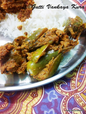 Gutti Vankaya Kura, Stuffed Brinjal Curry