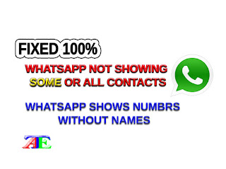 Some or All of My Contacts not Showing on WhatsApp Contacts not Showing Names Android and iphone