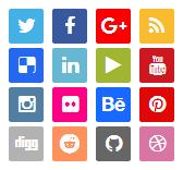 16 ازرار التواصل الاجتماعي لبلوجر
