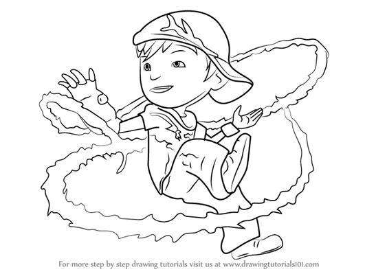 Tranh cho bé tô màu BoBoiBoy 10