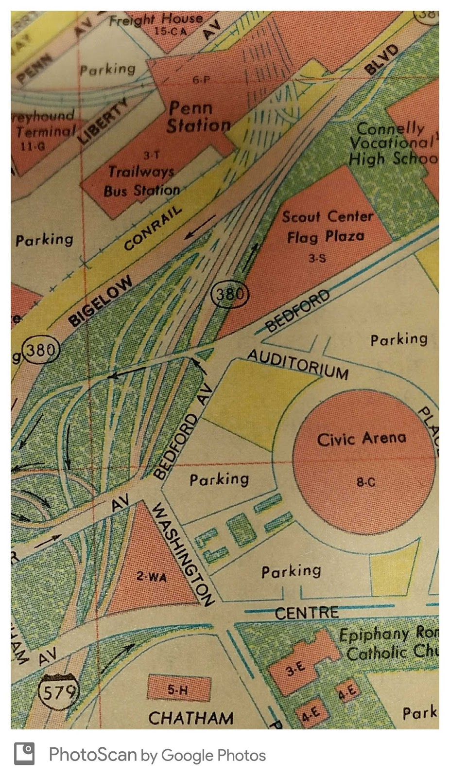 The Bigelow Blvd. / Crosstown Expressway (Interstate 579 ... on map of hwy 301, map of dulles greenway, map of indiana toll road, map of dulles toll road, map of suncoast parkway,