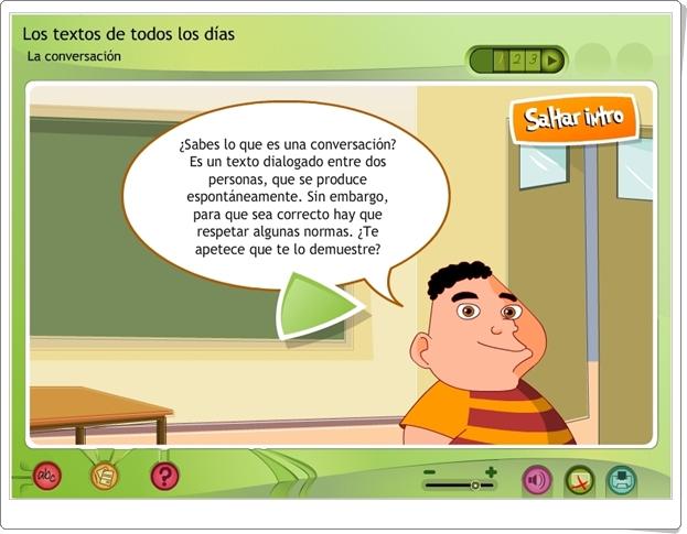 LA CONVERSACIÓN (Aplicación interactiva de Lengua Española de Primaria)