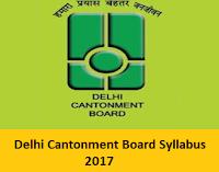 Delhi Cantonment Board Syllabus
