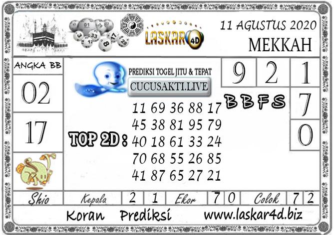 Prediksi Togel MEKKAH LASKAR4D 11 AGUSTUS 2020