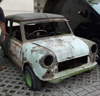 Jual Bahan Mini Cooper MK1 Tahun 1961 Mesin 1000cc ada