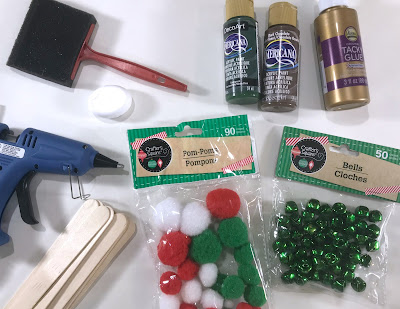 Supplies for toddler christmas tree craft