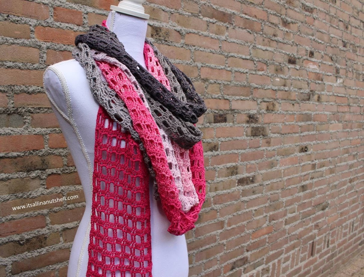 Endless Love Skinny Scarf FREE crochet pattern by It's All In A Nutshell