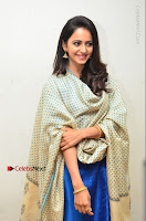 Actress Rakul Preet Singh Stills in Blue Salwar Kameez at Rarandi Veduka Chudam Press Meet  0117.JPG
